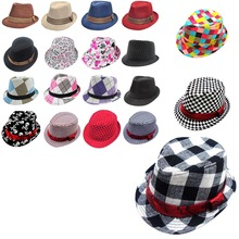 Jazz Toddler Kids Baby Boy Girl Cap Cool Photography Fedora Cotton Hat