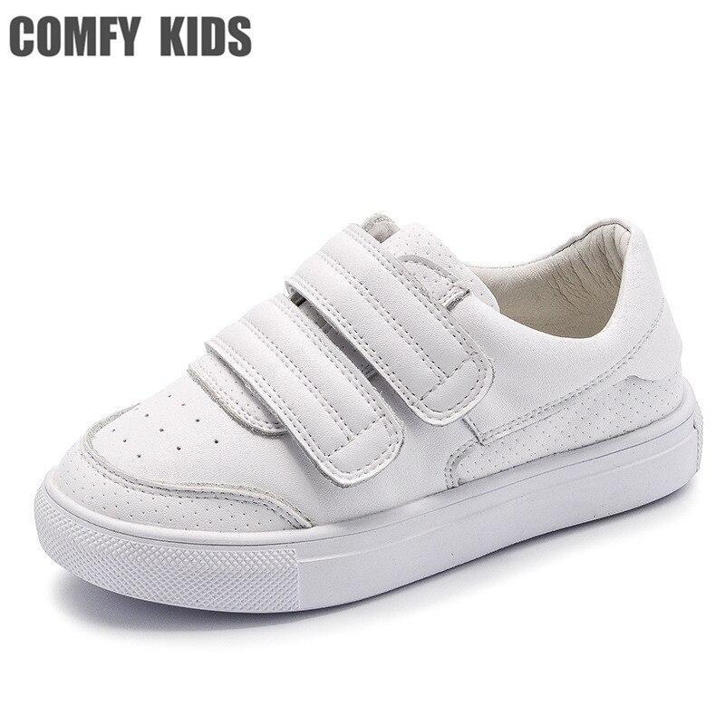 Comodi dei capretti Sneakers Cuoio Genuino scarpe per bambini piatto con le scarpe  dei ragazzi delle 6afa19ed3fa