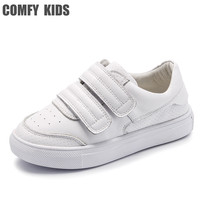 Comfy kids Genuine Leather Sneakers shoes for children's shoes flat with girls boys sneakers size 21 36 High quality sneakers