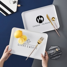 Nordic Storage Trays Table Minimalist Dessert Jelwery Plate Office Desk Organizer Dinner