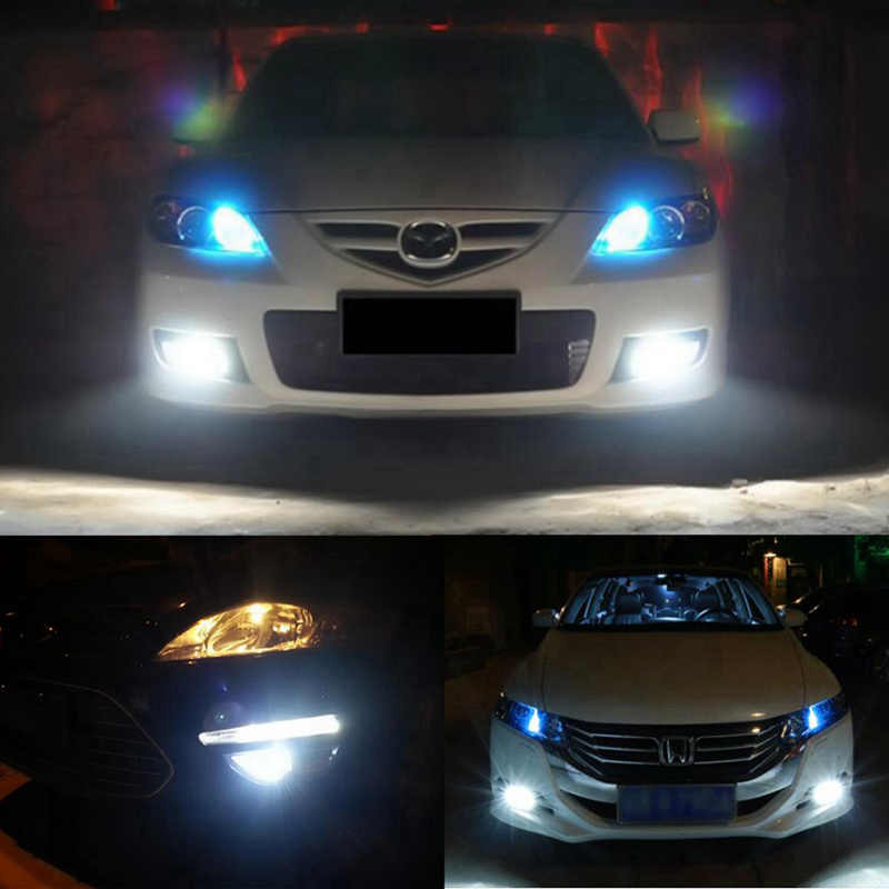2pcs 1500 Lumens Extremely Bright 9006 HB4 LED Bulbs with Projector for LED or Fog Lights, 6000K White Lighting Driving Running