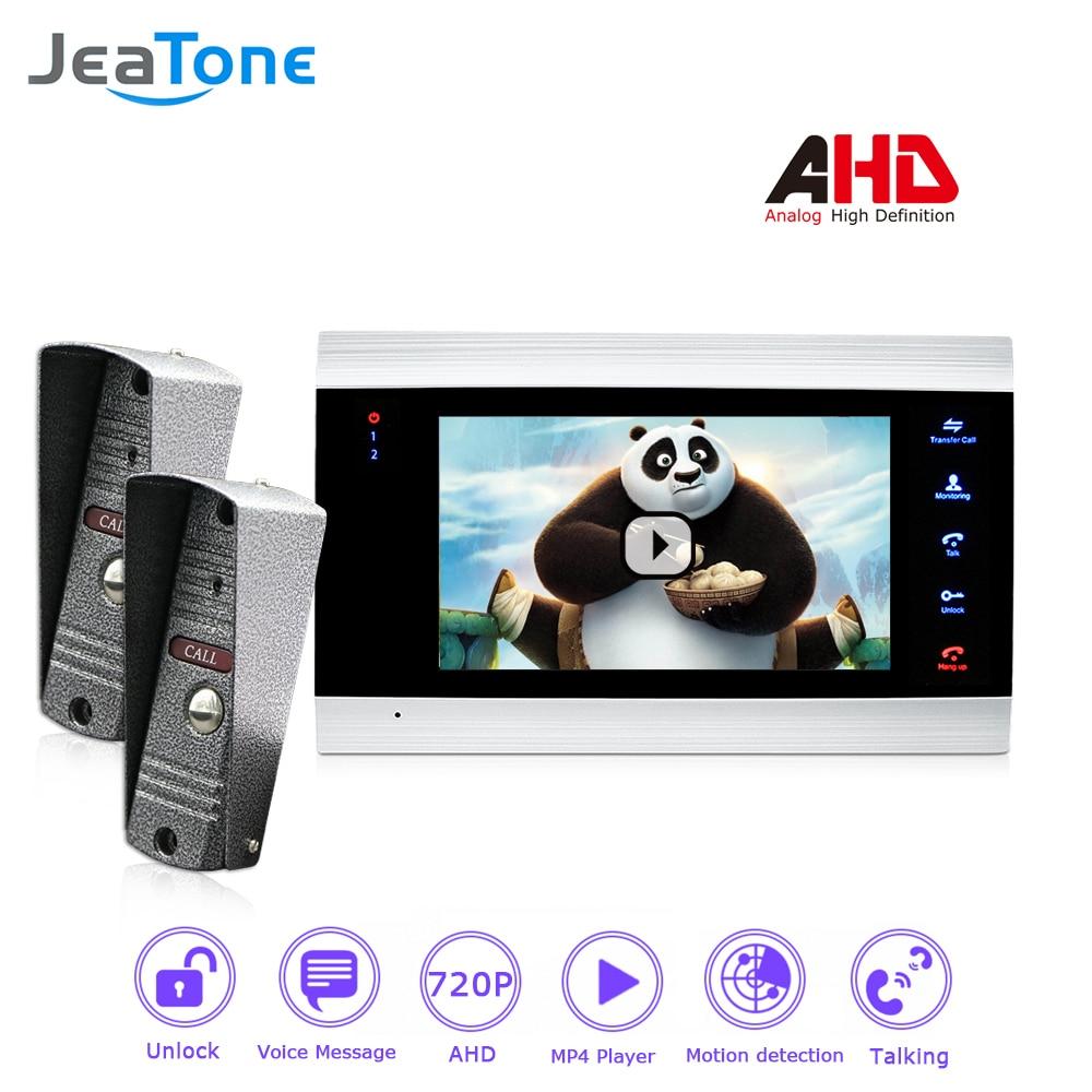 720P/AHD Video Intercom 7'' Video Door Phone Door Bell Door Speaker Security System Voice Message/Motion Detection/MP4 Player