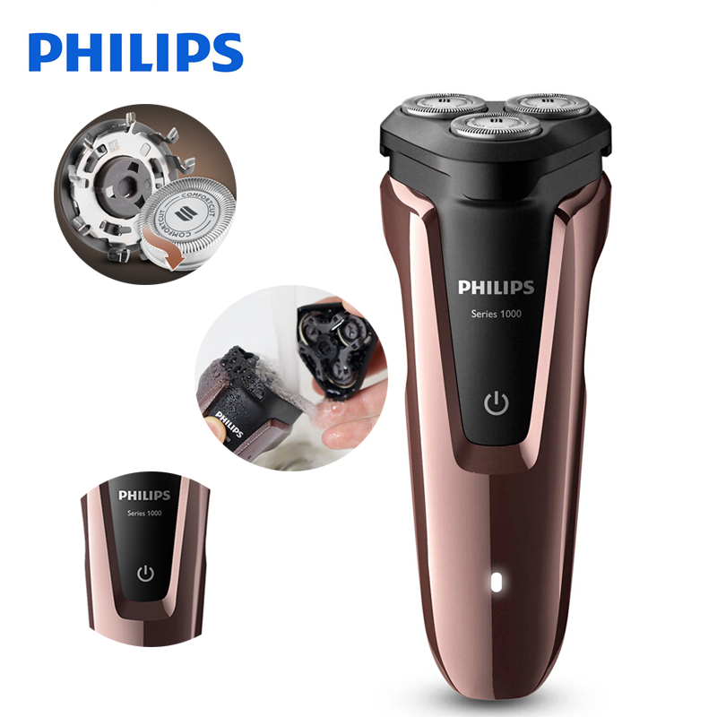 100% D'origine Philips Rasoir Électrique S1060 Rotatif Rechargeable Lavable Pour Les Hommes de Rasoir Électrique Avec Trois Têtes Flottantes