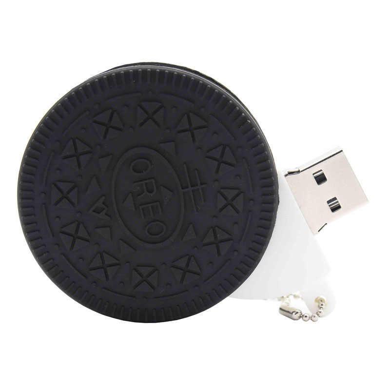 Binful Oreo Bánh Quy Mô Hình Kem Chocolate USB2.0 4GB 8GB 16GB 32GB 64GB Bút đèn LED Cổng USB Sáng Tạo Giftypendrive