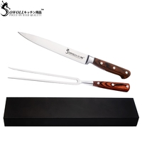 Barbecue Set Stainless Steel Sharp Slicing Knife bbq Fork Gift Box Hiking Cooking Kitchen Accessories Outdoor Tools