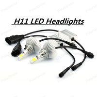 1 Pair H11 H8 H9 60W LED Light 6000LM White Car Replacement Headlight Headlamp DRL Fog