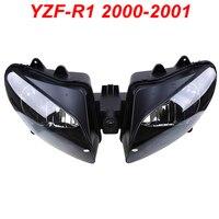 Для 00 01 Yamaha YZFR1 YZF R1 YZF R1 мотоциклетные передняя фара фаре CLEAR 2000 2001