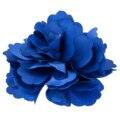 10 xSilk Grampo de Cabelo Da Flor Do Casamento Buquê de Flores Clipe 8 cm-Azul Escuro