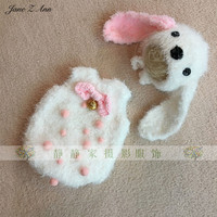 Jane Z Ann Baby Photography Props dog puppy Newborn Fotografia Accessories Infant Studio Shoot costume outfits