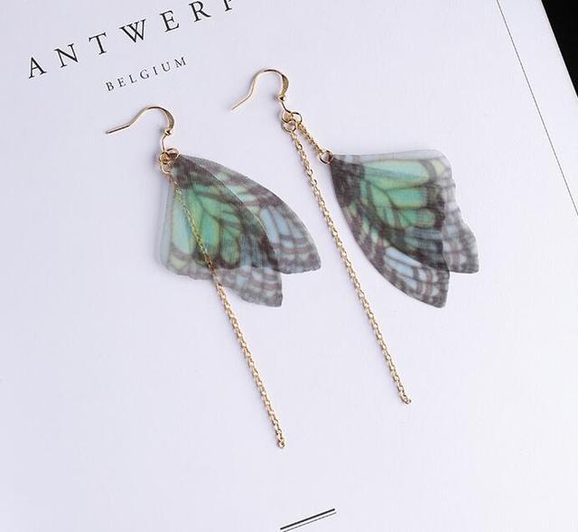 pendientes alas de mariposa