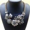 Ожерелье 2014 новый урожай металл преувеличены панк смола цветы сплава коренастый ChokerStatement мода ювелирных изделий для женщин M17