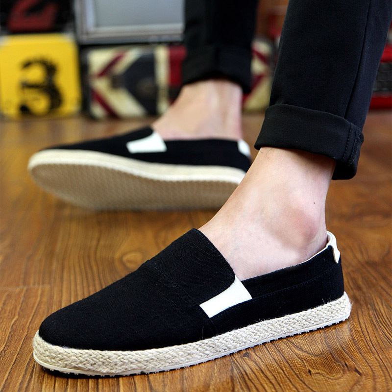 Vertvie Loafers Men Canvas-Shoes Slip Lightweight Breathable Casual Summer Spring/autumn