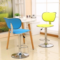 Blue Color Coffee House Lifting Rotation Stool Garden Household Chair Free Shipping