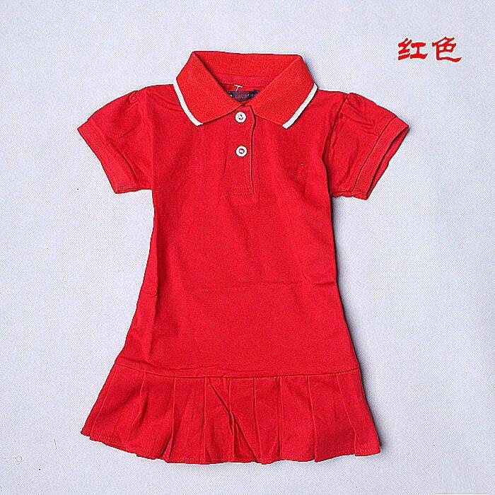 Mädchen sport kleid, baby perle net mesh baumwolle falten kleid, kinder tennis kleid reine farbe Revers dree kid mädchen kinder tuch