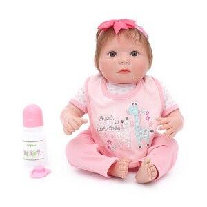 Детские куклы Bebes Reborn, силиконовые, 20 дюймов, 50 см, подарок для ребенка