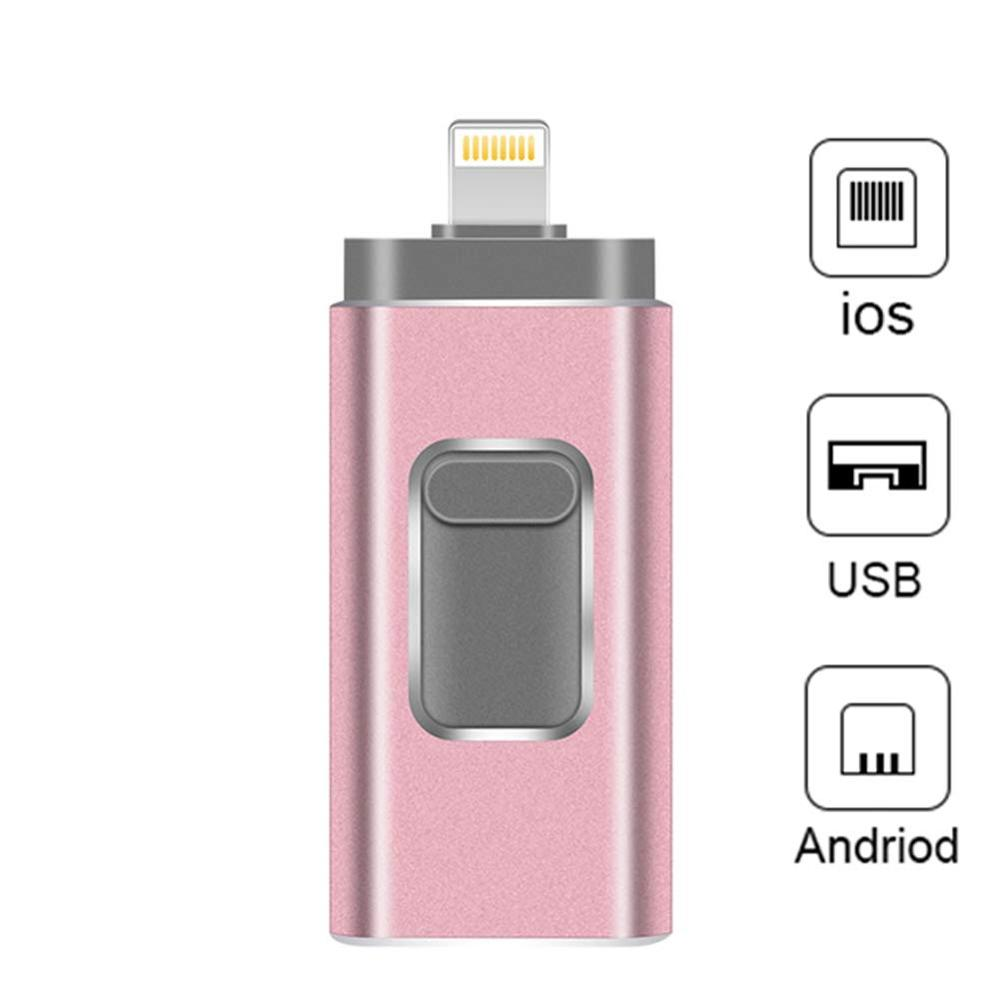 OTG Flash Drive for iPhone USB 3.0 Flash Drive 3 in 1 Memory Stick Storage Pen
