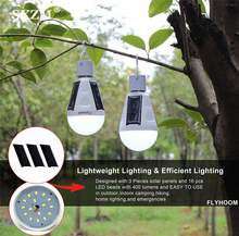 LED Solar Bulb 7W 12W Lamp AC85V-265V E27 Waterproof Outdoor Light Emergency Camping Hiking Fishing