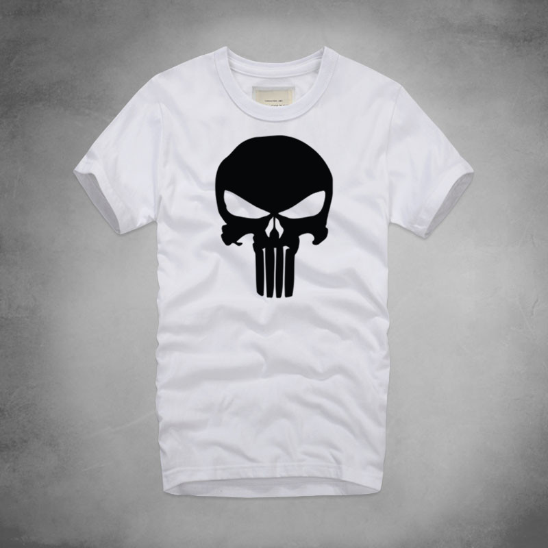 0bca149fa 1 Punisher Logo Print Marvel Movie T Shirt 100% Cotton Men Cool Soft T  Shirts Fitting Work out Strong Tee Skull Summer Tshirt -in T-Shirts from  Men's ...