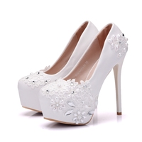 Wedding Shoes Glitter Gorgeous Bridal Evening Party Crystal Thin High Heels Women Shoes Sexy Woman Pumps Bridal Shoes XY B0000