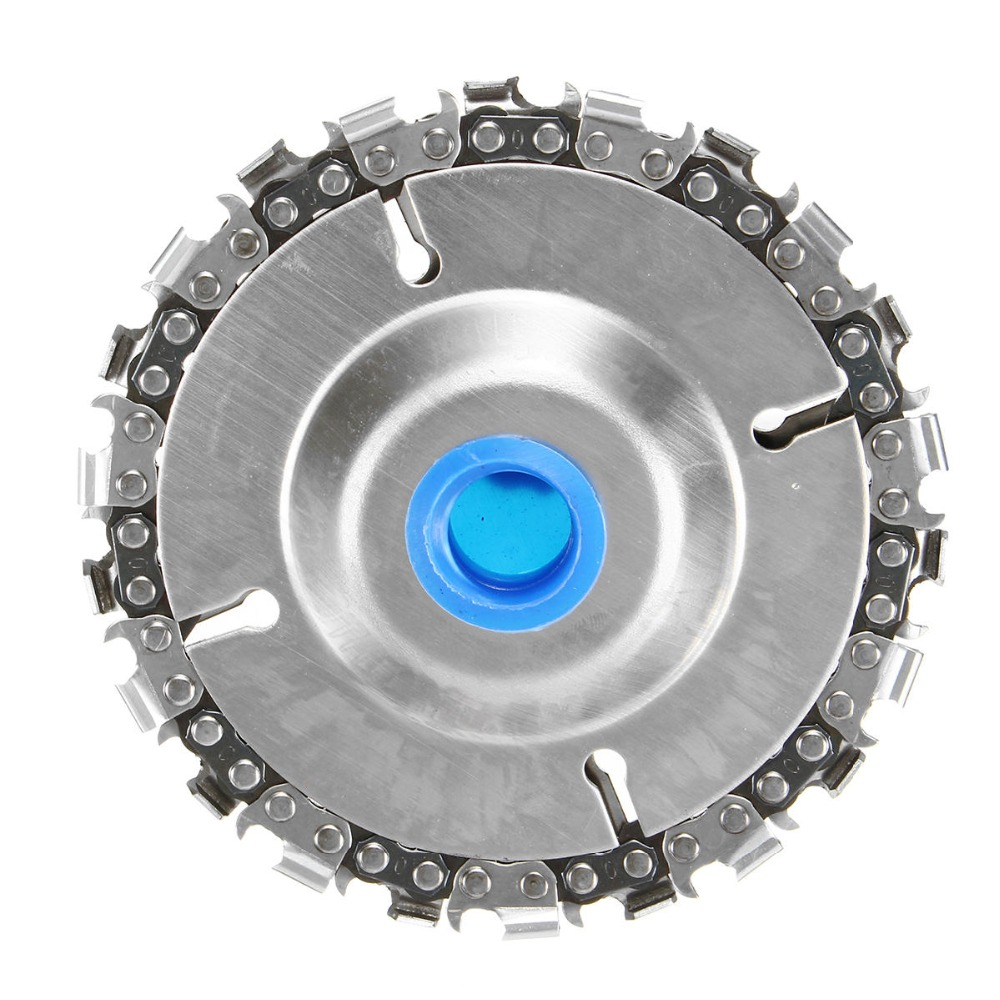 ALLSOME 4 Inch Grinder Disc and Chain 22 Tooth Fine Cut Chain Set For 100/115 Angle Grinder HT2106