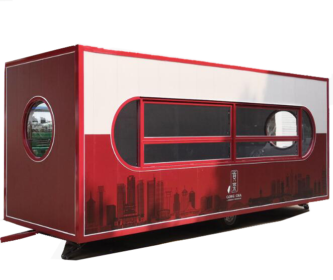 Big Capacity Container Type 4.6m Length Food Cart Truck Can Customized Food Cart With Free Shipping By Sea