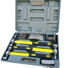 YY 7PCS Auto Body Dent Repair Hammer Dolly Tool Kit Panel Beater Sheet With Grey Plastic Case