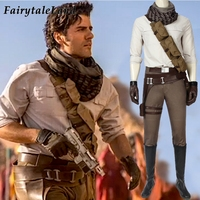 Star Wars The Rise Of Skywalker Poe Dameron Cosplay Costume Adult Halloween Costumes Superhero Jedi fighter pilot Outfit