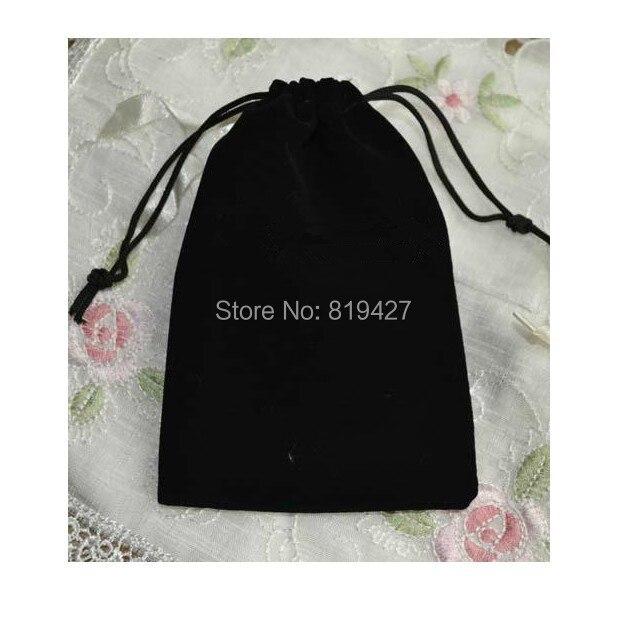 f555d6248 شحن مجاني 100 قطع 10x12 سنتيمتر الأسود المخملية الرباط الحقيبة حقيبة/حقيبة  مجوهرات ، عيد الميلاد/الزفاف هدية حقيبة