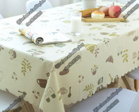Urope Waterproof Table Cloth Grid Plastic PVC Tablecloth No Clean Oilproof Dining Table Dust Cover For