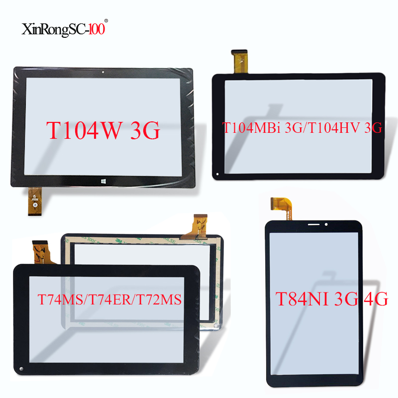 For Oysters T104W 3G/T74MS/T74ER/T72MS/T84NI 3G 4G/T104MBi 3G/T72MS 3G/T104HVi Tablet Touch screen digitizer panel glass