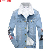 Men Jacket And Coats Brand Clothing Denim Jacket Fashion Mens White Duck Down Jeans Jacket Thick