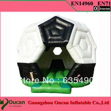 PVC4X4X4m tarpaulin outdoor and indoor small inflatable bouncer for family use