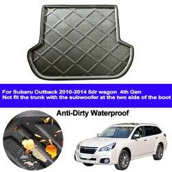 Samochód na tylny bagażnik mata do wyłożenia podłogi bagażnika bagażnika dywany podłogowe maty na tace pad dywanik dla Subaru Outback 2010 2011 2012 2013 2014 5dr wagon 4th Gen -