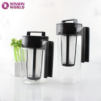 900ml Black Coffee Maker For Home Cold Brew Coffee Maker Triran Tea Pot With Pitcher With