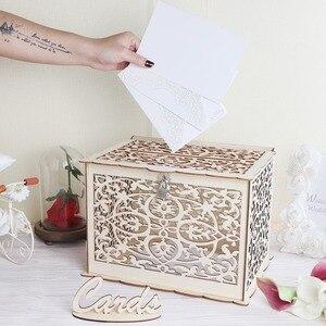 Image 4 - OurWarm DIY tablero de mensajes rústico de madera de boda soporte de barra de dulces caja de anillo caja de anillos obsequios para los invitados regalos de fiesta y boda decoración