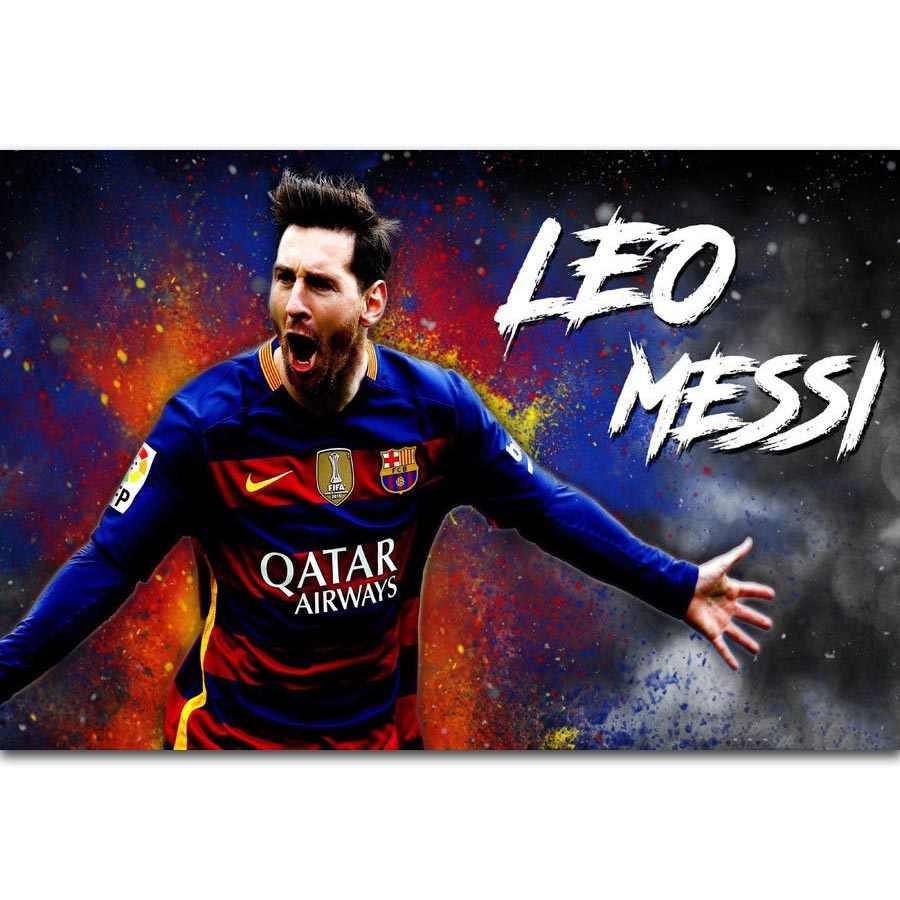 c0a770654 FX843 Lionel Messi Football King Super Soccer Football Star Top Player  Custom Poster Art Silk Canvas