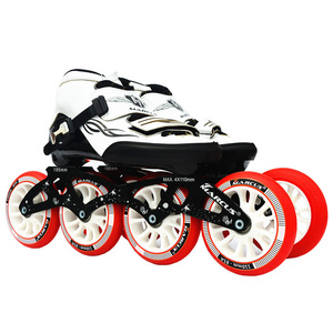 Image 4 - Worth! Carbon Fiber Fiberglass Speed Inline Skates White Kids Adult Competition Street Racing Sport Shoes Training Patines