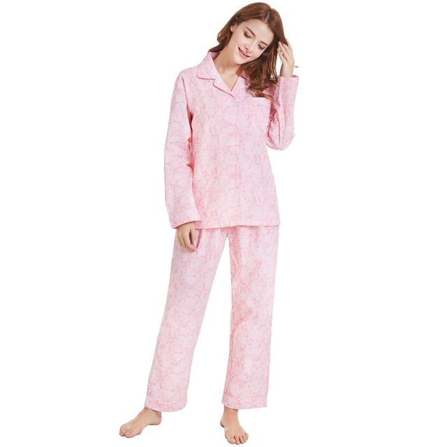 12b9ae556f Tony Candice Women Pajamas 100% Cotton pijamas Winter Pajama Sets Women  Soft Sleepwear For Girl Causal Long Sleeve Nightgown