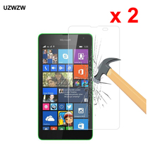2pcs For Nokia Lumia 535 Premium 2.5D 0.26mm Tempered Glass Screen Protector For Nokia Mic
