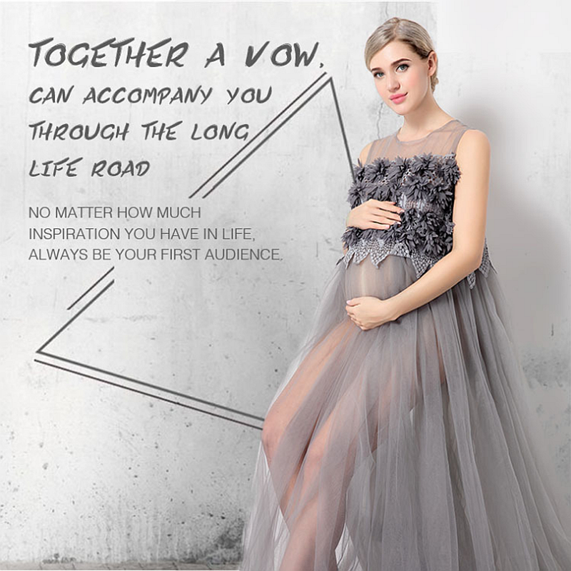 Le Couple maternity photography props Maternity gown Lace Maternity Dress Fancy shooting ...