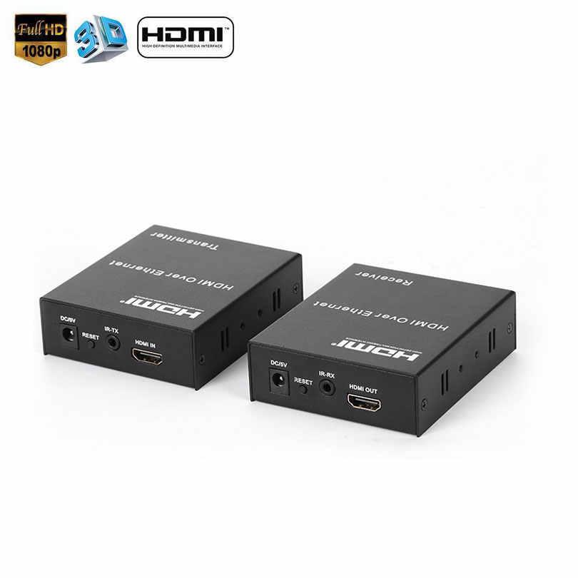 2019 Hot 1080 P 120 M HDMI Extender Melalui TCP/IP Cat5e/6 Kabel Ethernet HDMI Inframerah TX Transmitter/ receiver RX dengan Ir HDTV