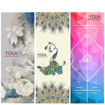 Printed Yoga Towel Microfiber 183*65cm Non Slip Yoga Blanket Absorb Sweat Yoga Mat Cover Towel Pilates Fitness Beach Mat Towel 2