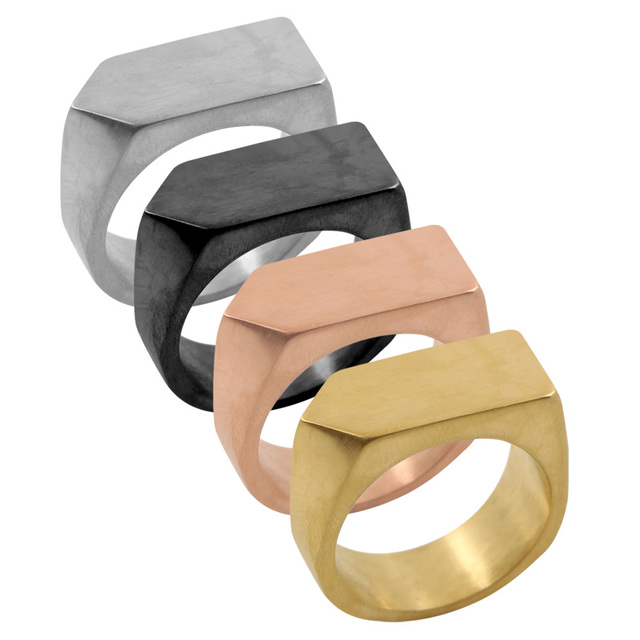 9MM High Polished Unique Simple Design Ring Gold Color Party Jewelry Trendy Geo Band Ring For Women Cuff Finger Ring For Party