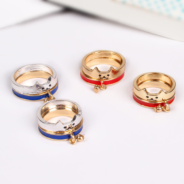 New Hot Selling Japanese Animal Ring Cute Shiba Sets Couple Rings Bestie For Women