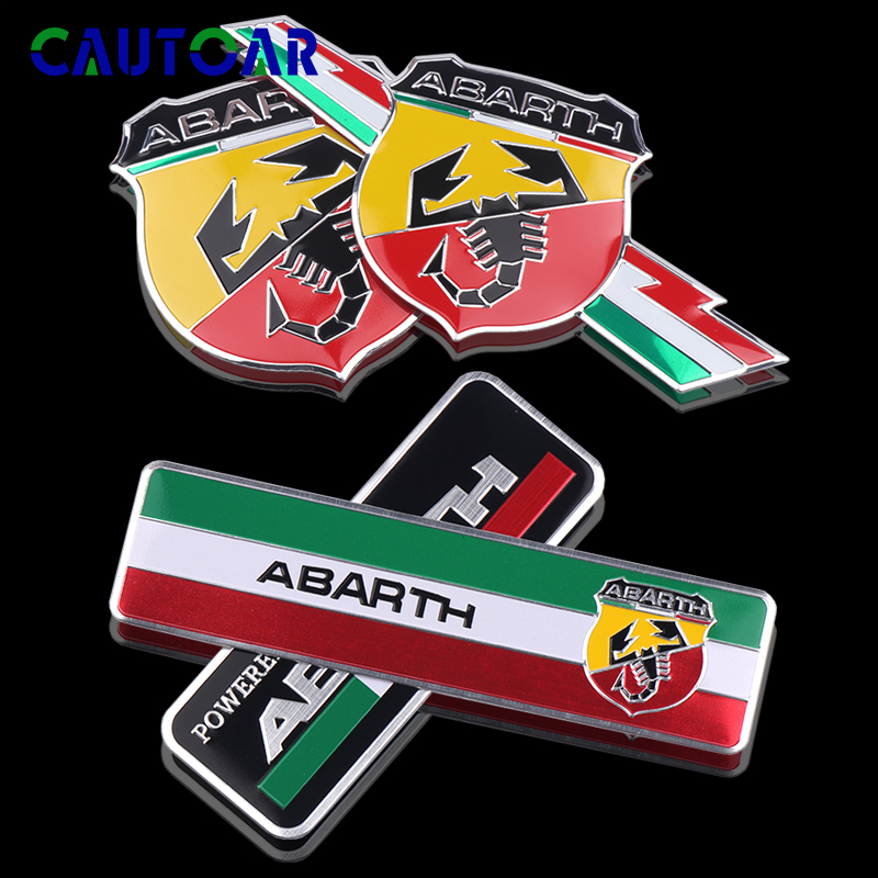 3D Car Styling Abarth Scorpion logo Metal Sticker Badge Emblem Decal For All Fiat Punto 124/125/125/500 decoration Accessories