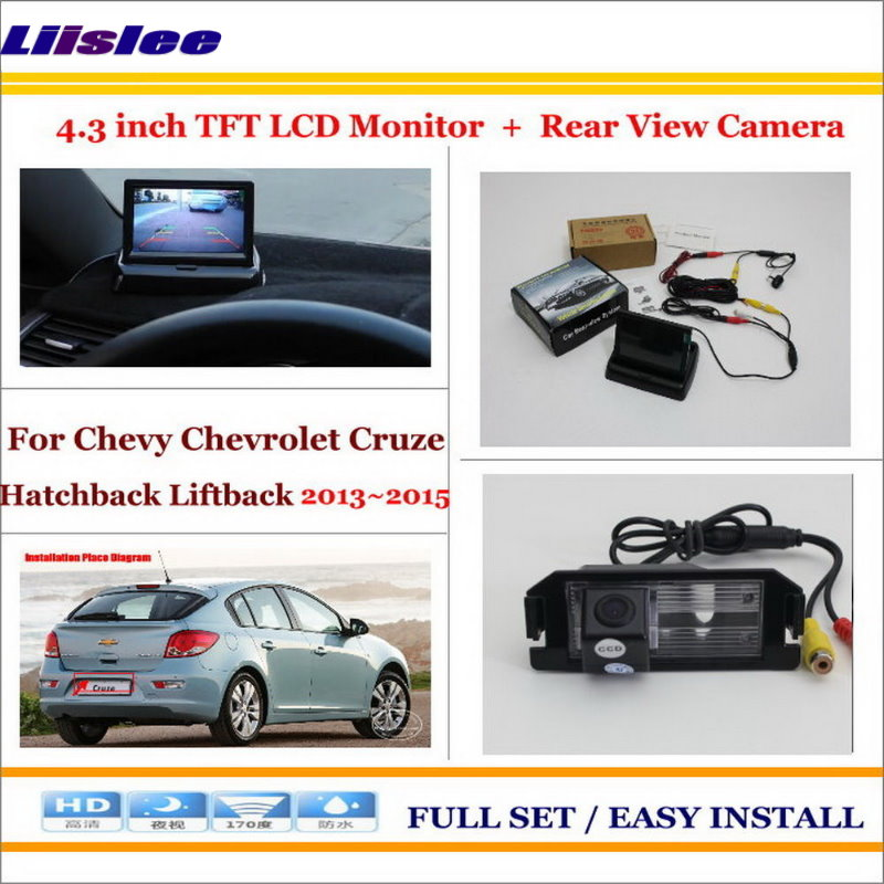 Liislee For Chevy Chevrolet Cruze Hatchback Liftback 2013 2015 Car Reverse Rear Camera + 4.3