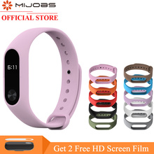 mijobs colorful silicone wrist strap bracelet replacement watchband for original miband 2 xiaomi wristbands