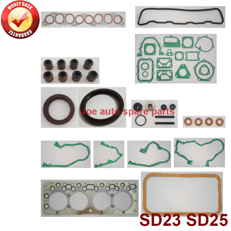 SD23 SD25 complete engine full gasket set kit for Nissan Homer/Cabstar/pick-up 720/urvan/king-cab 2289cc 2.3D 8v 1984-88