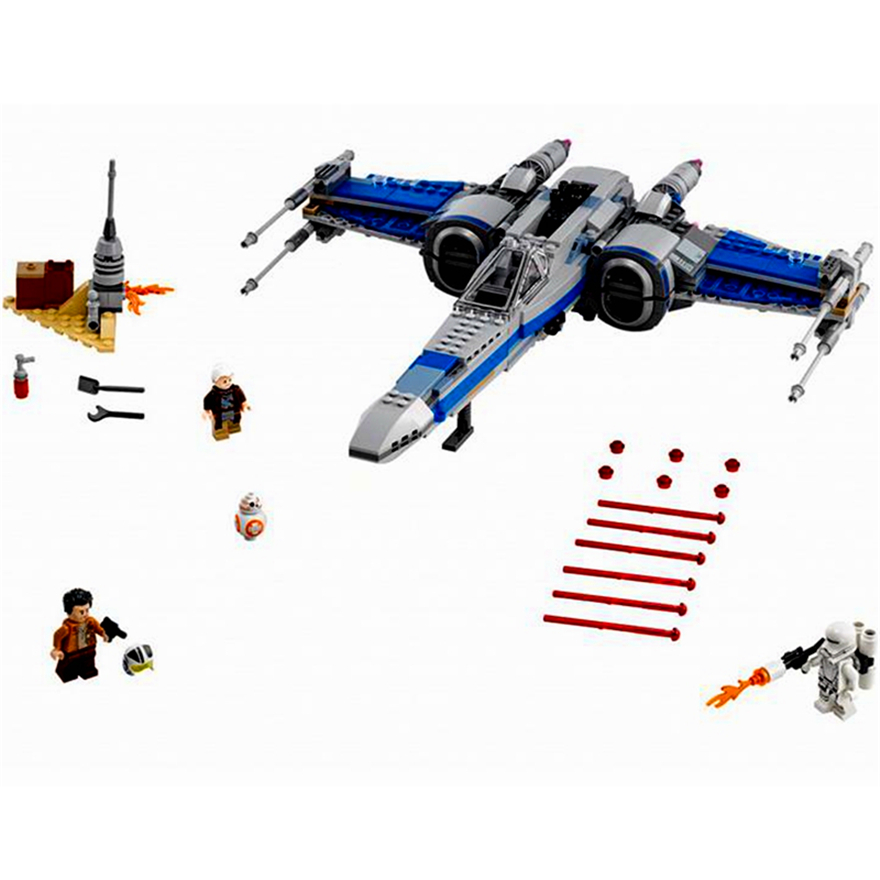 740Pcs Star Wars First Order Poe's X-wing Fighter Model Building Block Toys LEPIN 05029 Gift For Children Compatible Legoe 75149 lepin 22001 pirate ship imperial warships model building block briks toys gift 1717pcs compatible legoed 10210