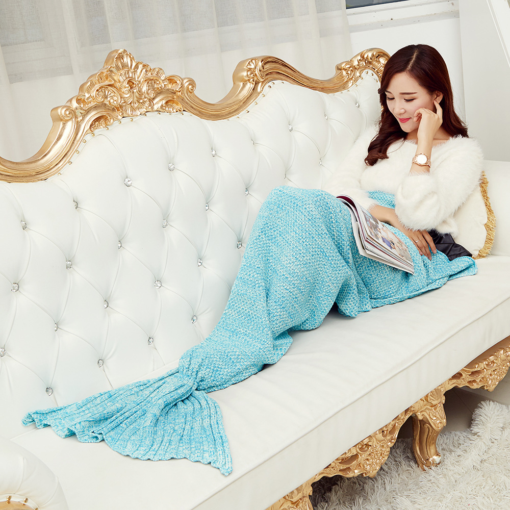 Free Pp Knitting Pattern Mermaid Tail Cocoons Beach Blanket Knitted
